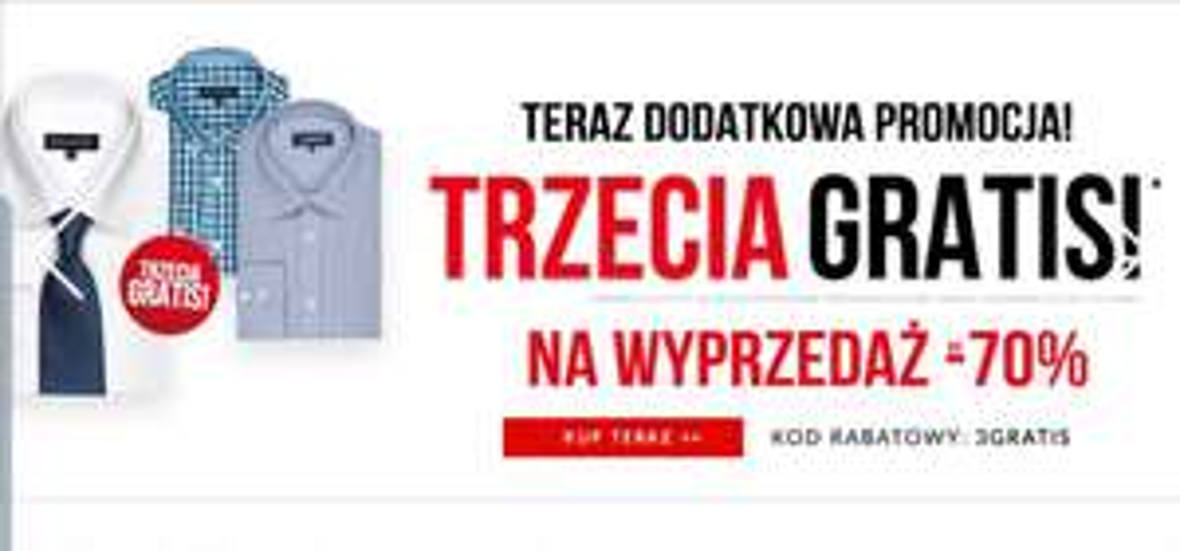 Wólczanka/Lambert do -70% + trzecia koszula gratis