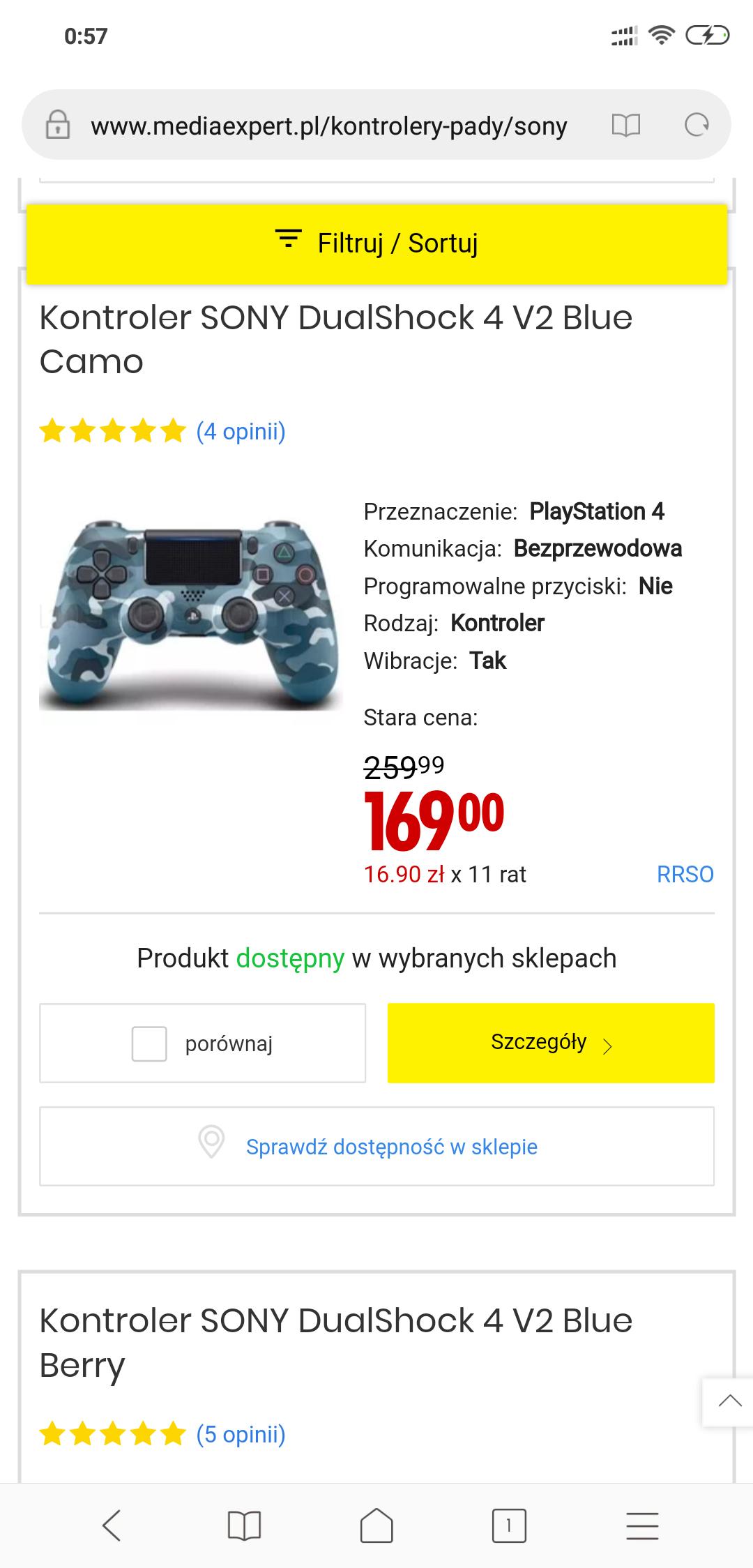 PROMOCJA  Sony DualShock 4 v2 pad PS4