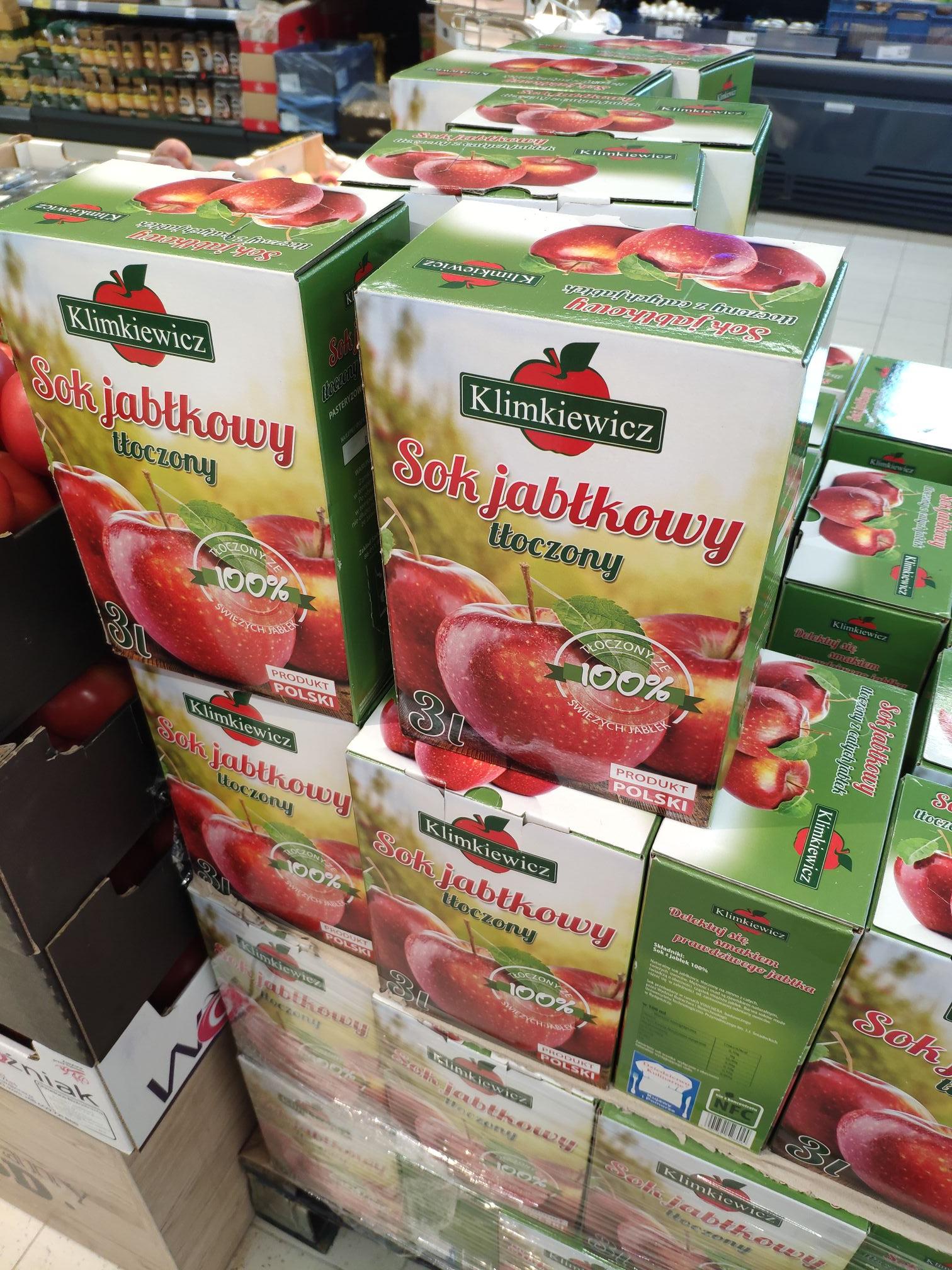 Sok naturalnie mętny jabłkowy tłoczony 3l @PoloMarket