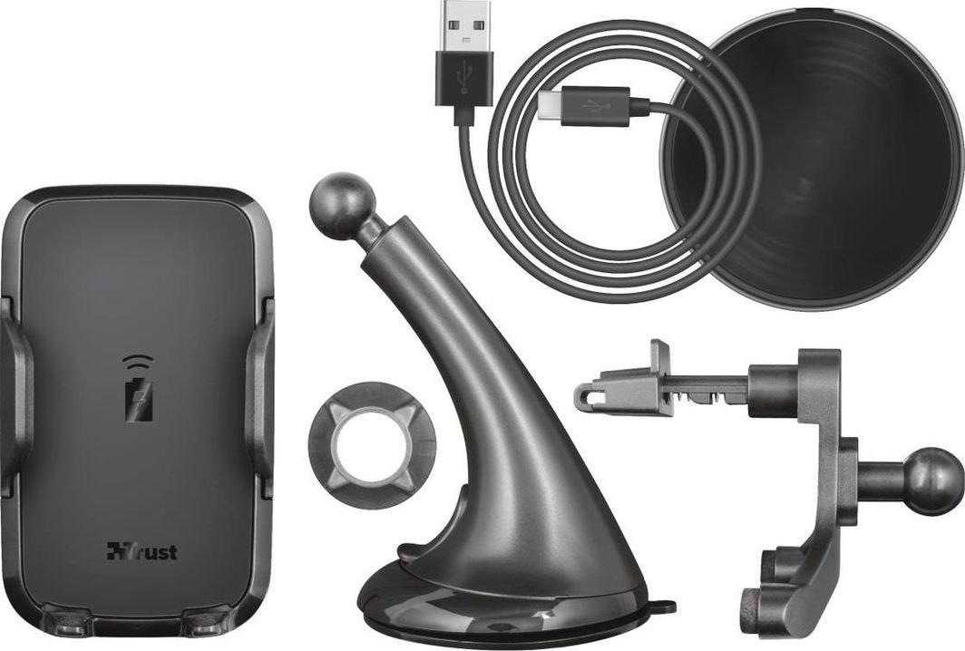 Uchwyt Trust Yudo10 Fast 23133  z ładowarką indukcyjną Fast Charge