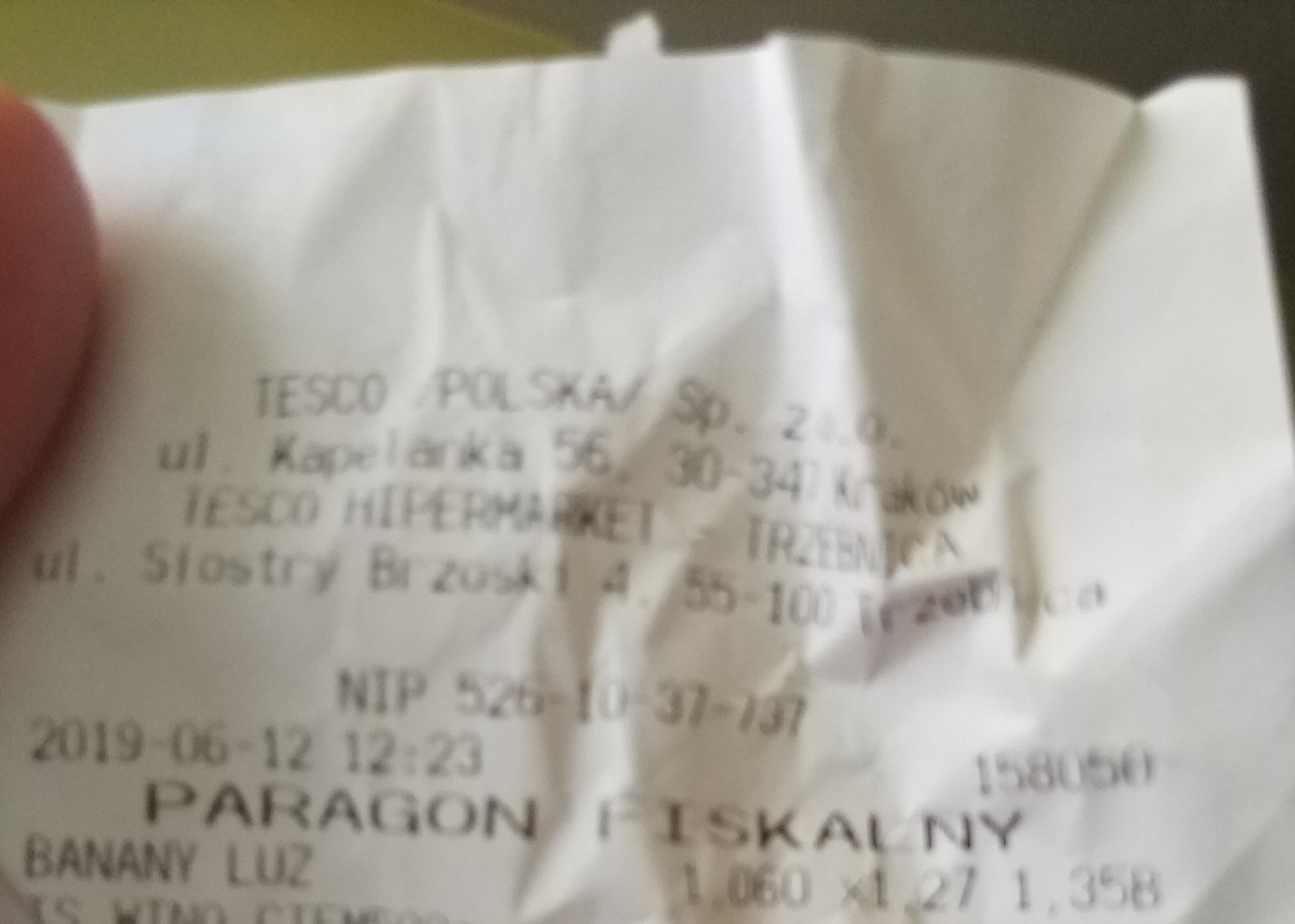 Banany 1,27 zł Tesco / Trzebnica lokalnie ?