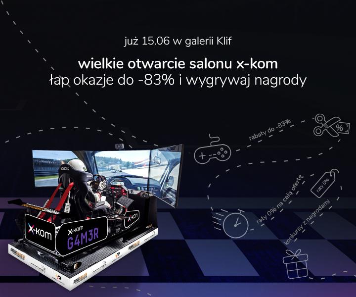 Otwarcie salonu x-kom Gdynia w galerii Klif świetne ceny i raty 0%