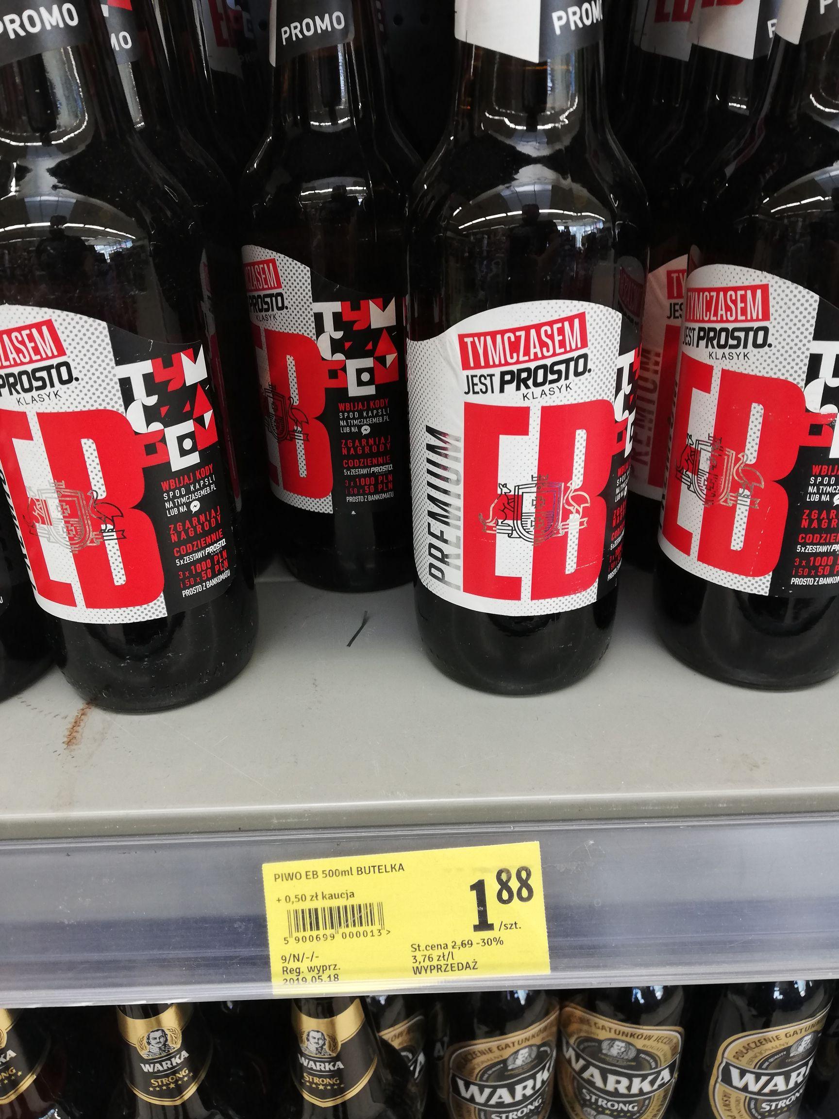 Piwo EB w dobrej cenie - stokrotka