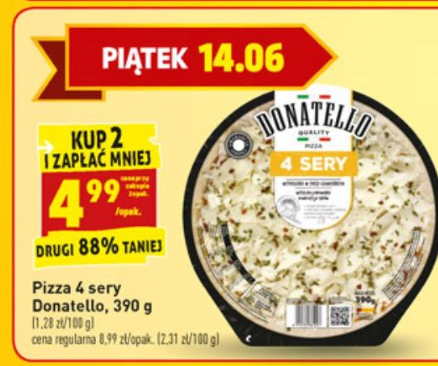 Pizza 4 sery Biedronka 14.06