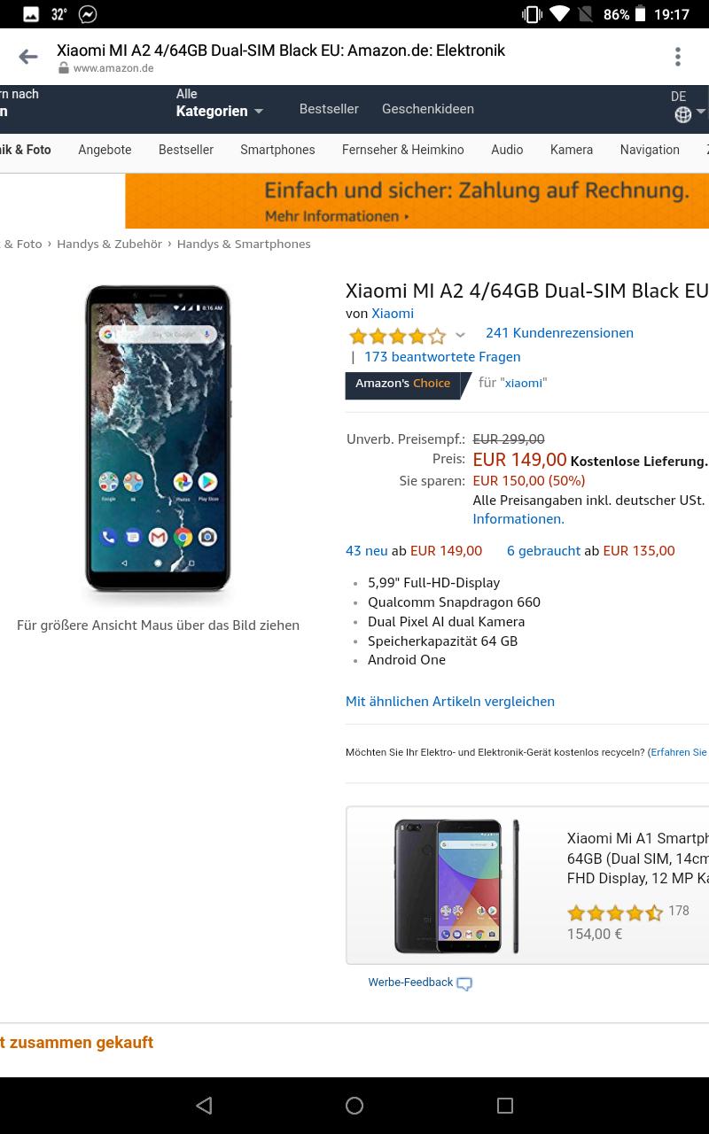 Smartfon Xiaomi Mi A2 4/64 SD 660