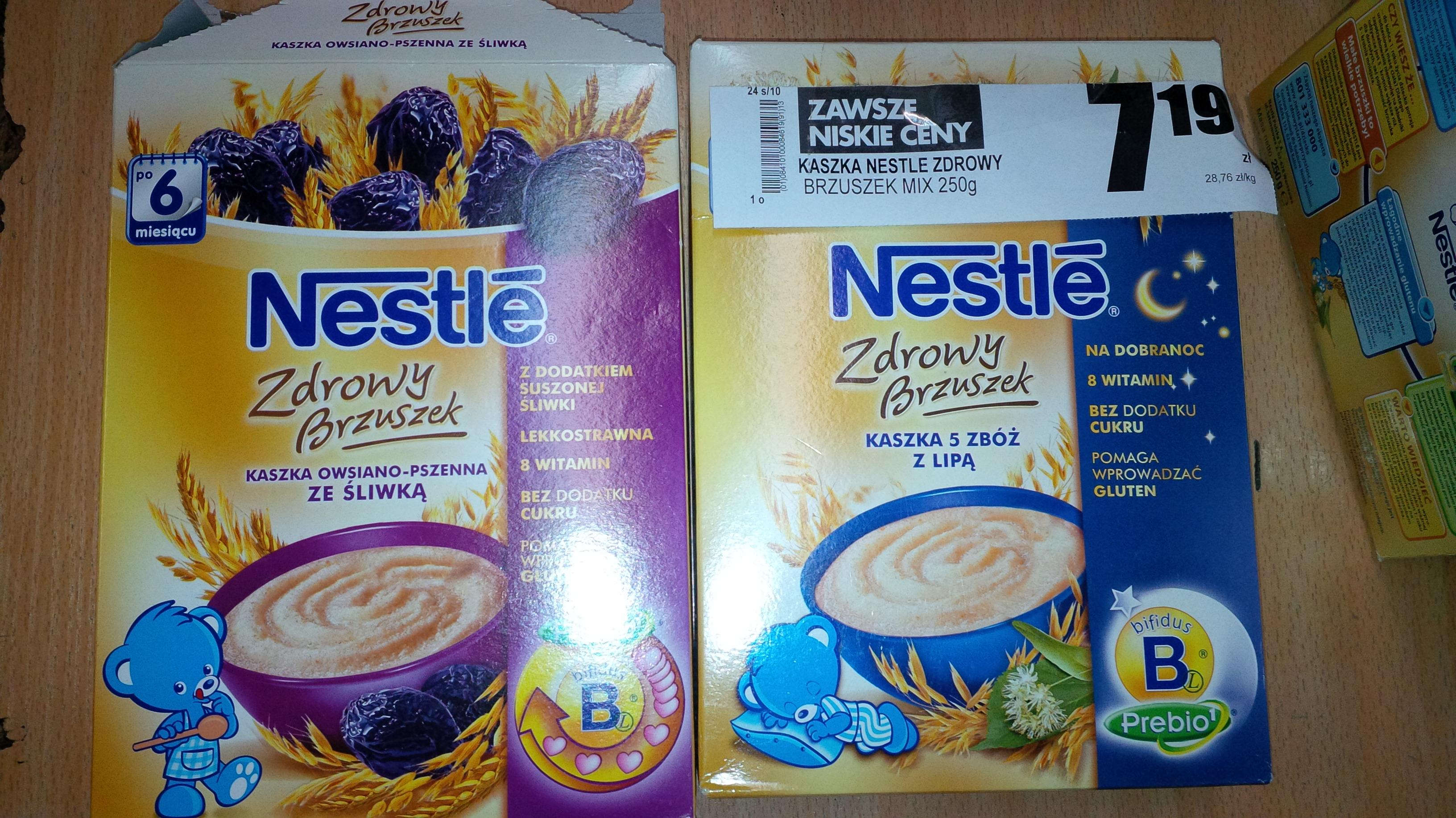 Kaszki BEZ dodatku cukru Nestle @ Biedronka