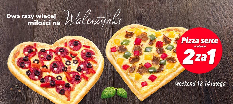 Pizza w kształcie serca - 2 w cenie 1 @ Telepizza