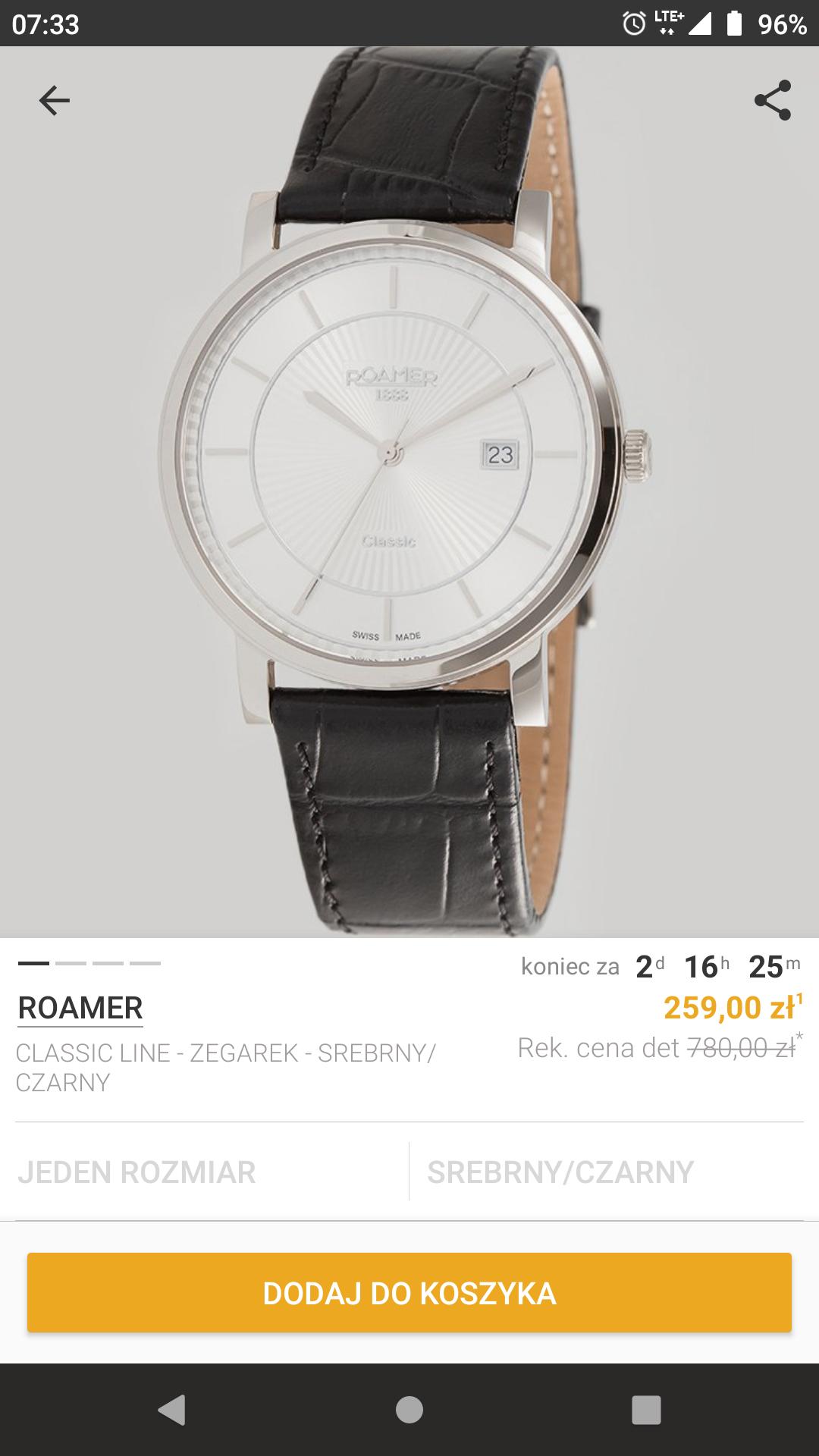 Zegarek Roamer