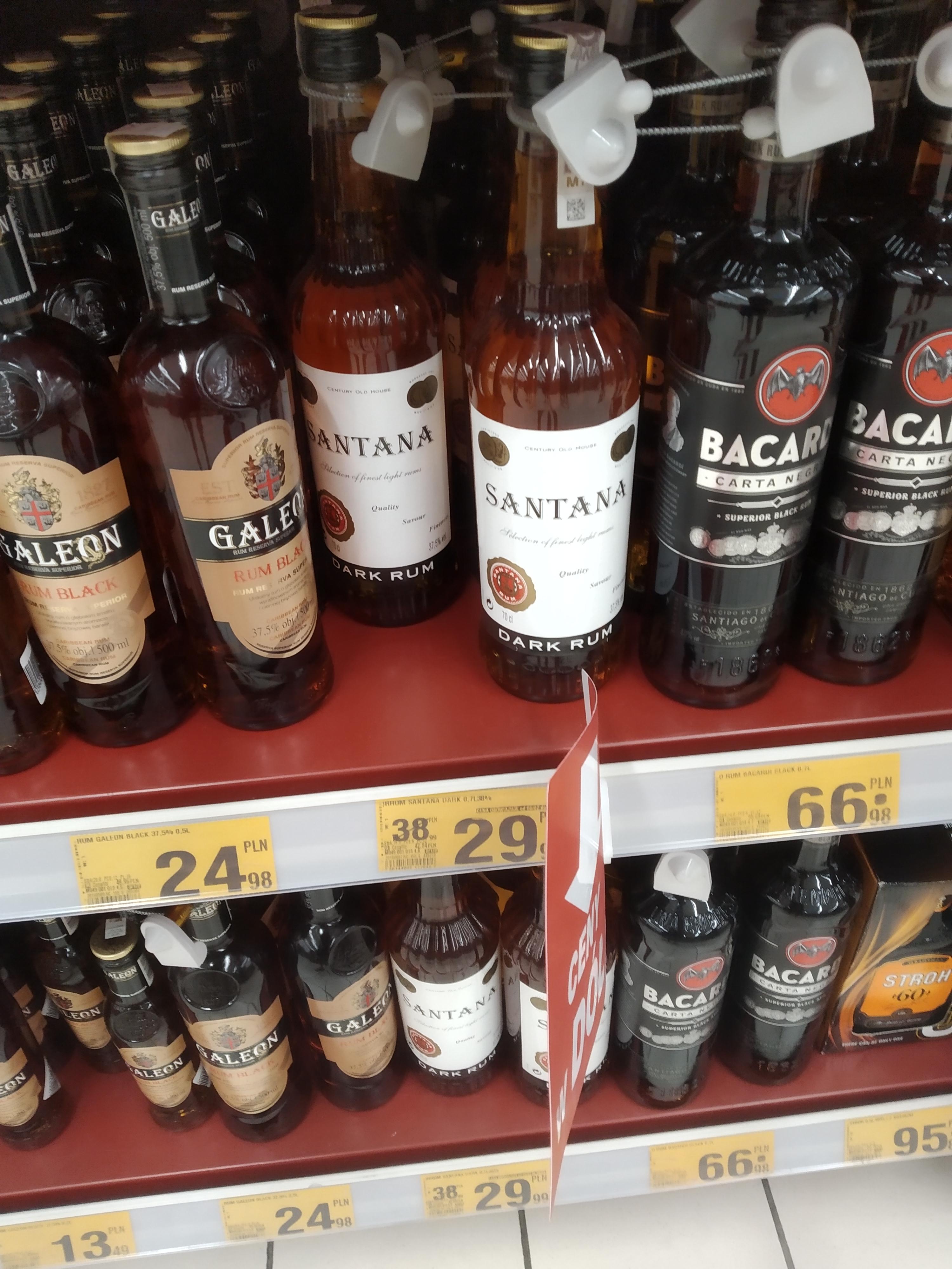 Rum Santana 0,7l Auchan Łódź