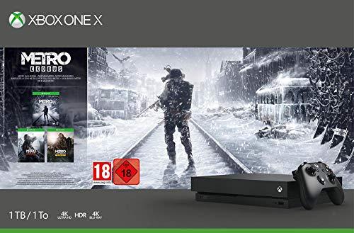 Xbox One X 1TB + 3 gry z serii Metro za 387 euro (Amazon.de)