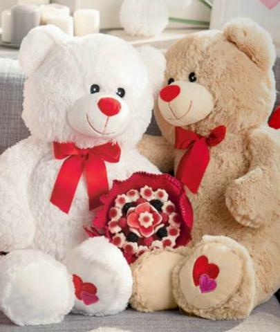 Pluszowe misie na Walentynki w Kik