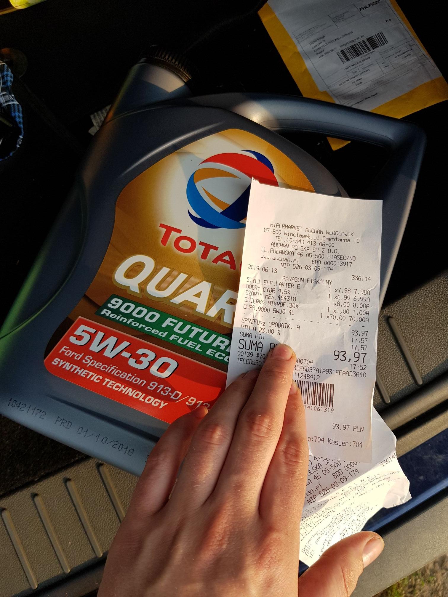 Olej Total 5w30 ford | AUCHAN (WŁOCŁAWEK)