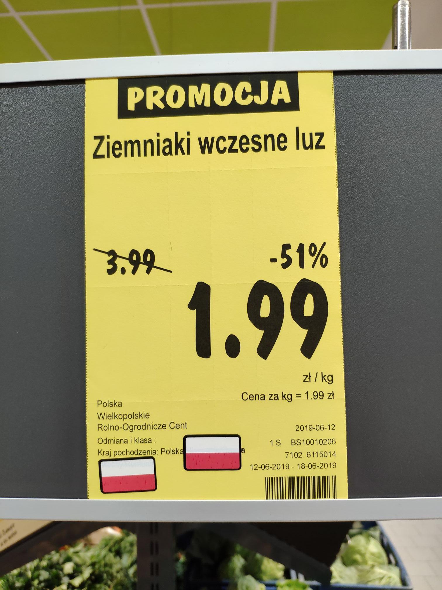 Ziemniaki wczesne polskie luz @PoloMarket