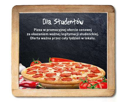 Dla uczniów i studentów pizza do 40% taniej @ Gusto Dominium