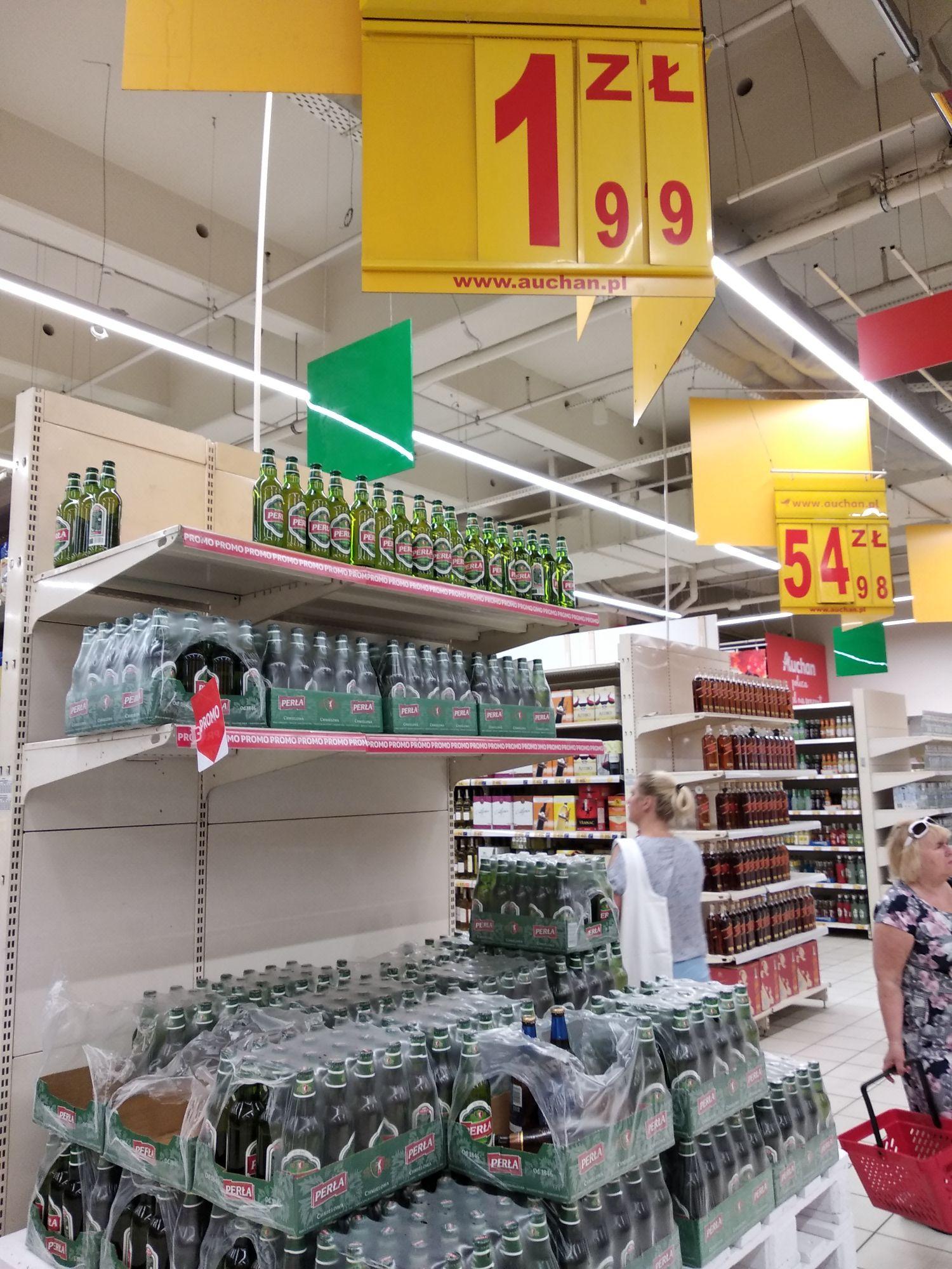 Piwo Perła Chmielowa, Auchan