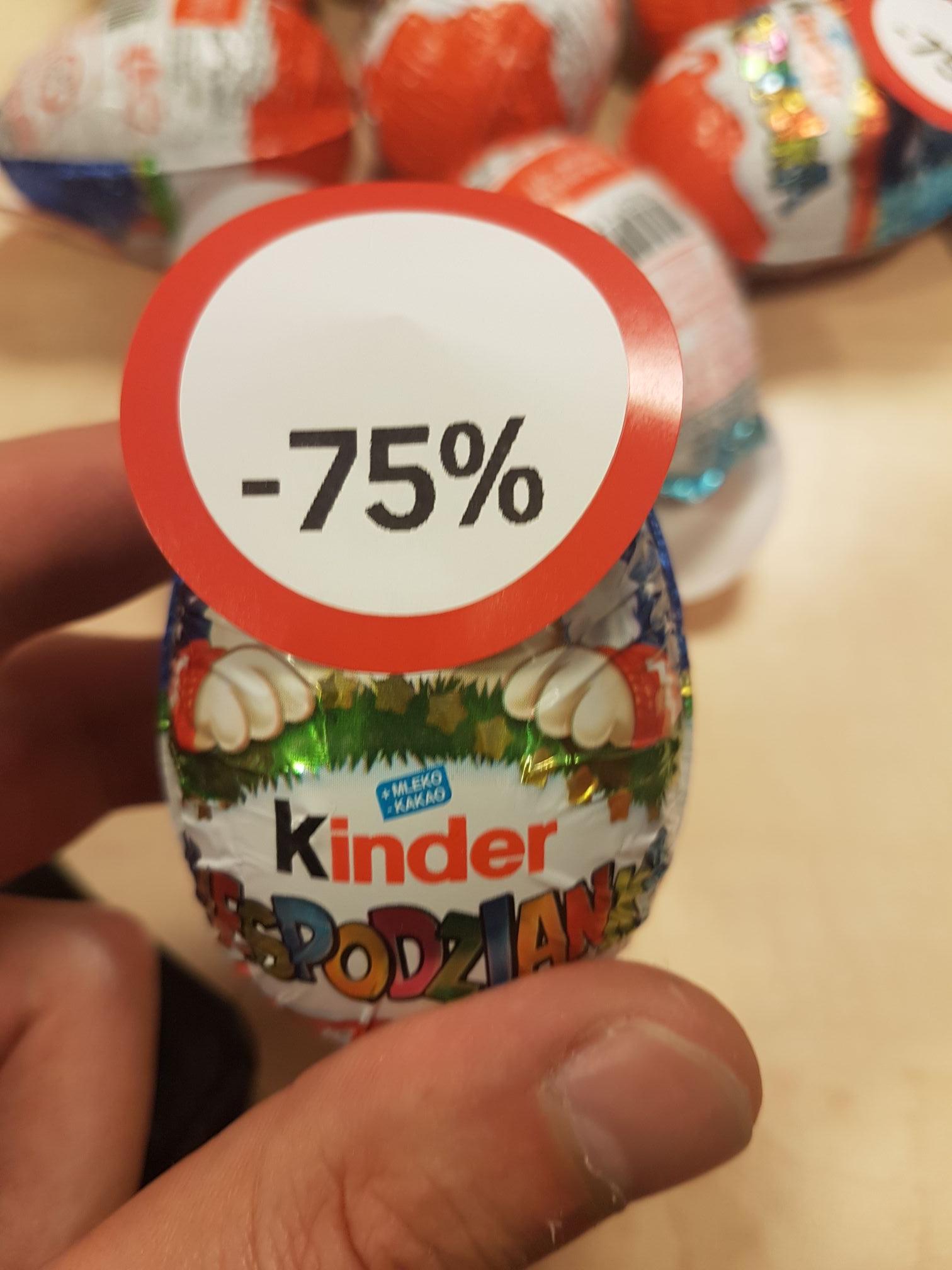 Jajko Kinder niespodzianka za 1.25