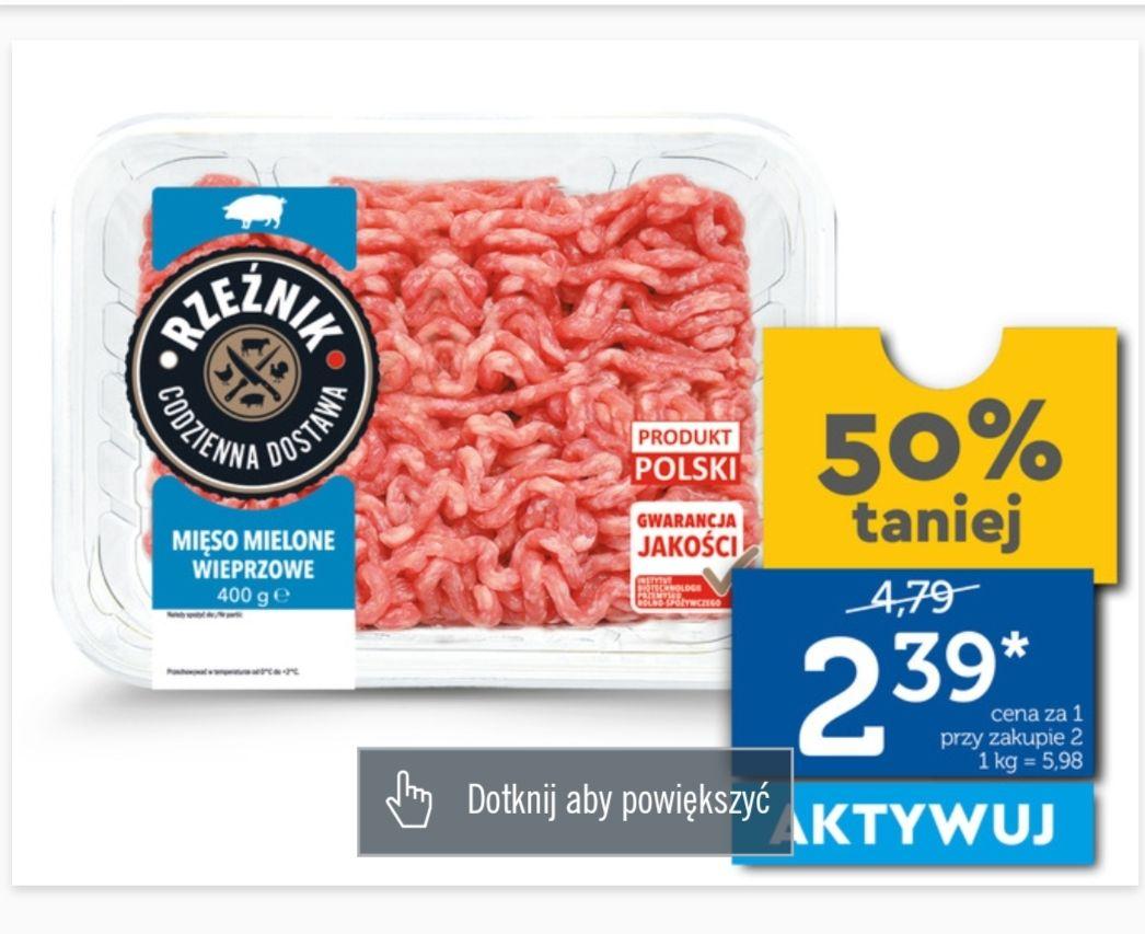 Mięso mielone wieprzowe. Cena przy zakupie dwóch sztuk. Lidl plus