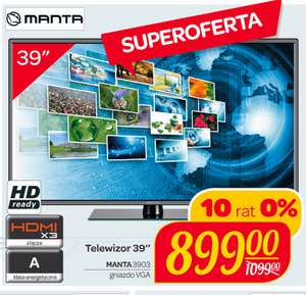 "Telewizor Manta 39"" w Carrefour"
