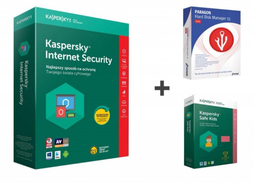 Oprogramowanie : Kaspersky Internet Security + SafeKids + Hard Disk Manager