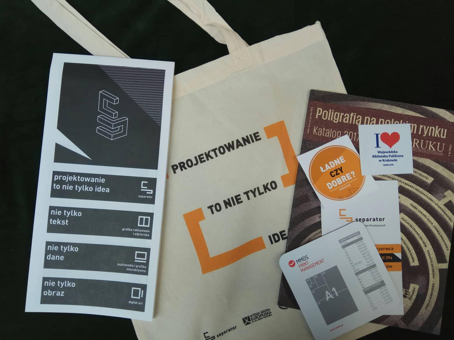 Darmowa torba płócienna oraz Prelekcje znanych osób ze świata dizajnu. KRAKÓW
