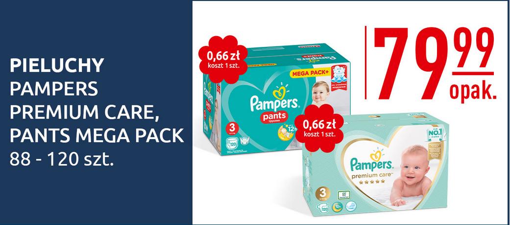 Pieluszki Pampers Premium Care lub Pantsy (mega Pack+) za 72zł z aplikacją @ Carrefour