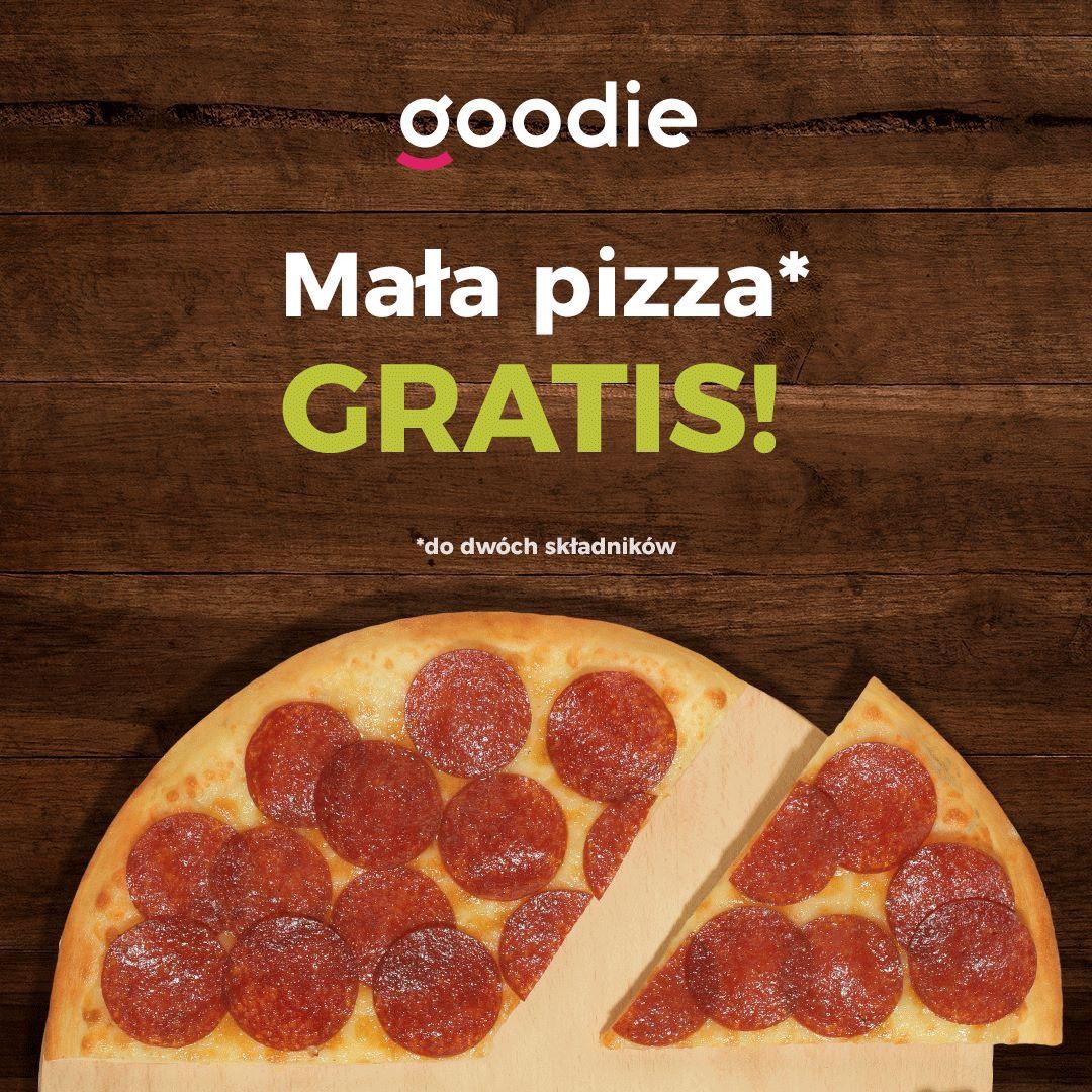Mała pizza za darmo od Goodie (Telepizza) (MWZ 20 lub 27)