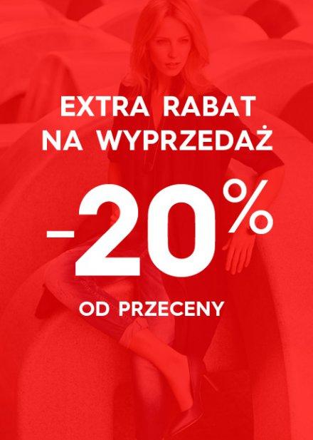 Dodatkowe 20% rabatu na produkty z wyprzedaży @TOP SECRET