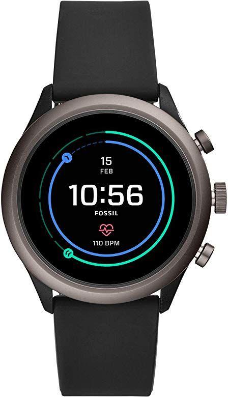 Fossil Sport FTW4019 smartwatch, unisex, czarny silikon, GooglePay, Snap 3100