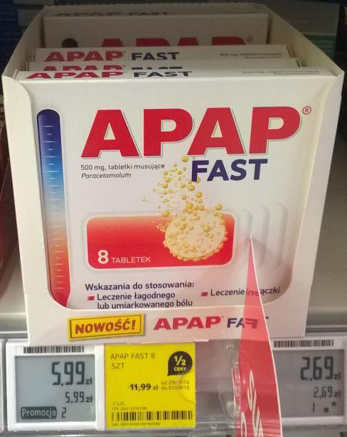 Tabsy APAP-sy FAST w Tesco