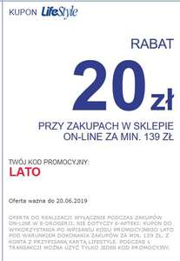 20 zł rabatu klub lifestyle - Superpharm