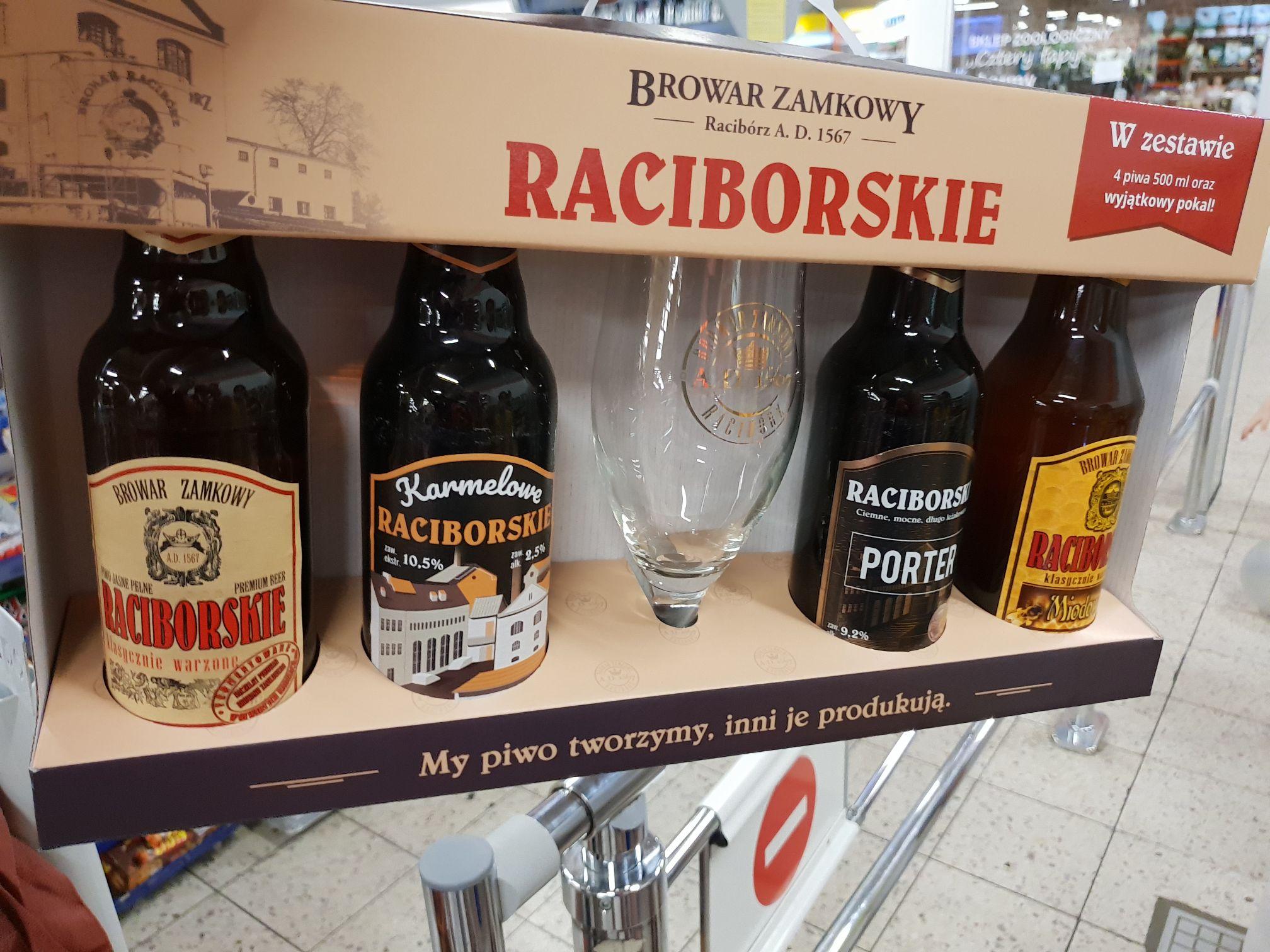 4x Raciborskie + pokal. E.Lecrerc Gliwice