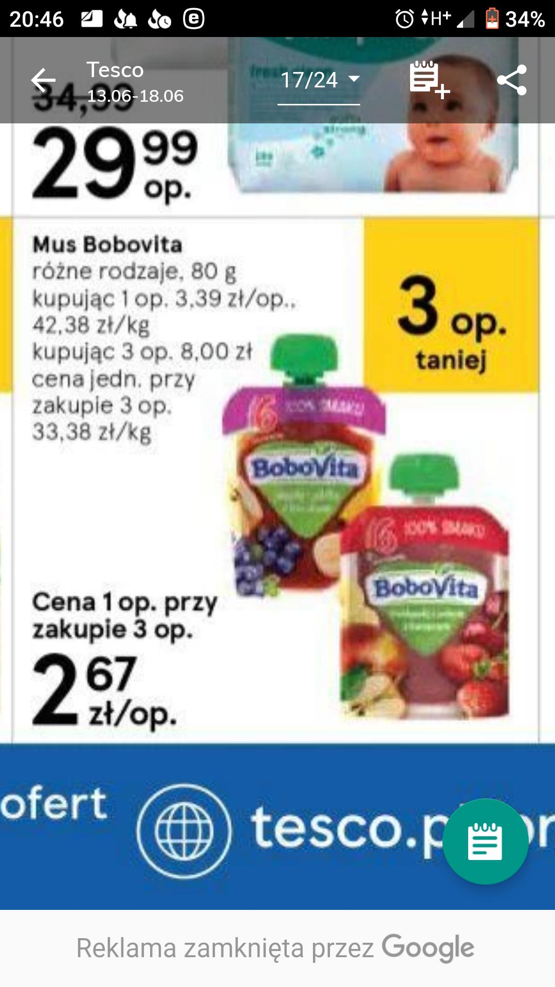 Błąd cenowy - tubki Bobovita 80g, tylko smak owoce leśne z bananem i jogurtem naturalnym