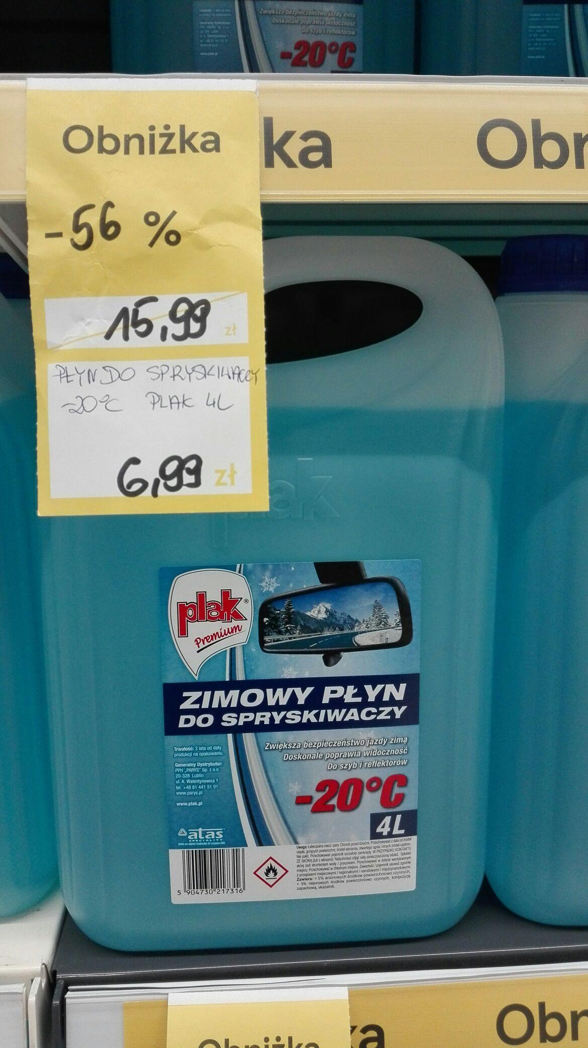Zimowy płyn do spryskiwaczy Plak 4 litry