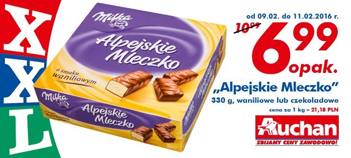Alpejskie Mleczko od Milki za 6,99zł @ Auchan