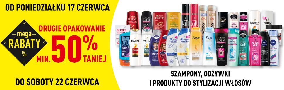 Szampony, Odżywki, produkty do stylizacji włosów MEGA RABATY - Biedronka