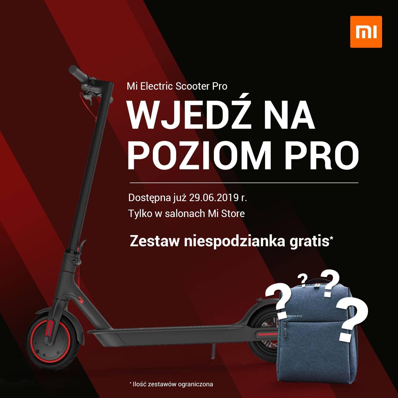 Hulajnoga Xiaomi Mi Electric Scooter Pro Black Polska Dystrybucja od 29 czerwca stacjonarne
