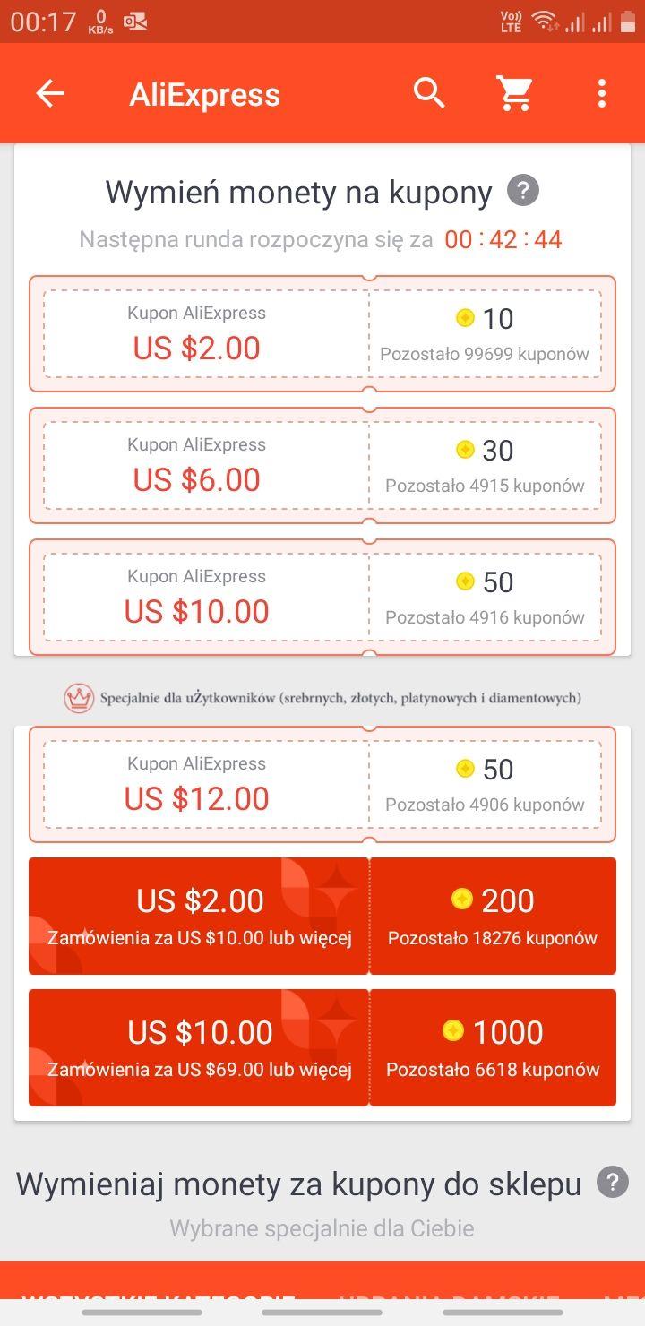 Aliexpress kupon 2/10 za 200pkt