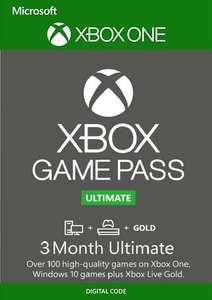 3 Miesiące Xbox Game Pass Ultimate Xbox One / PC