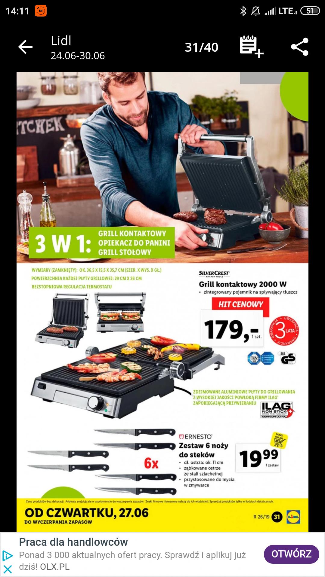 Grill elektryczny SilverCrest 2000W