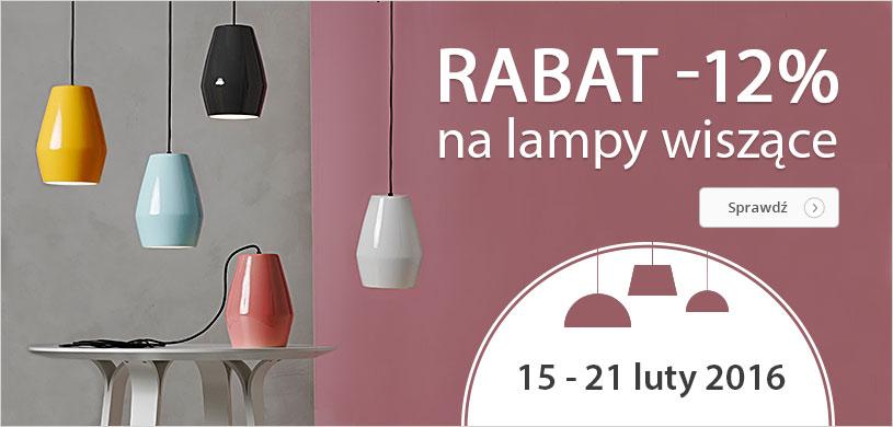 Rabat 12% na wszystkie lampy wiszące! OD 15.02 DO 21.02