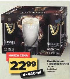 4x piwo Guinness + szklanka @ Netto