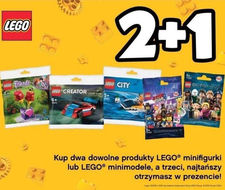2+1 gratis: kup 2 dowolne produkty LEGO minifigurki lub minimodele, a trzeci otrzymasz w prezencie @ Tesco