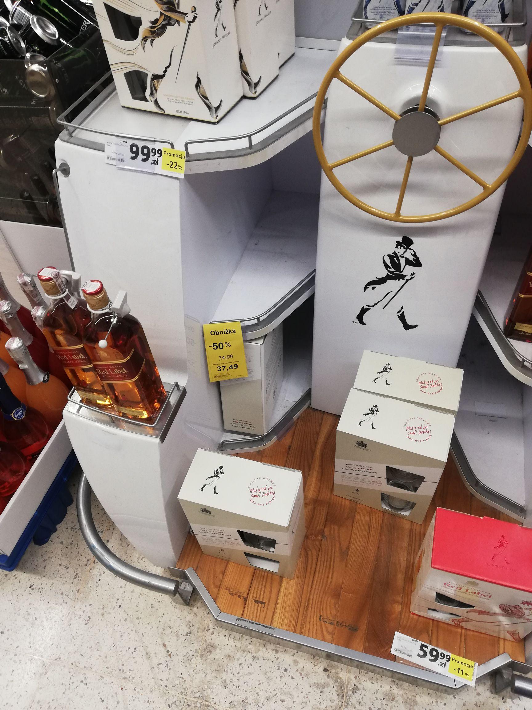 Tesco Whisky Johnnie Walker Blenders' Batch Red Rye Finish 0,7l + 2 szklanki