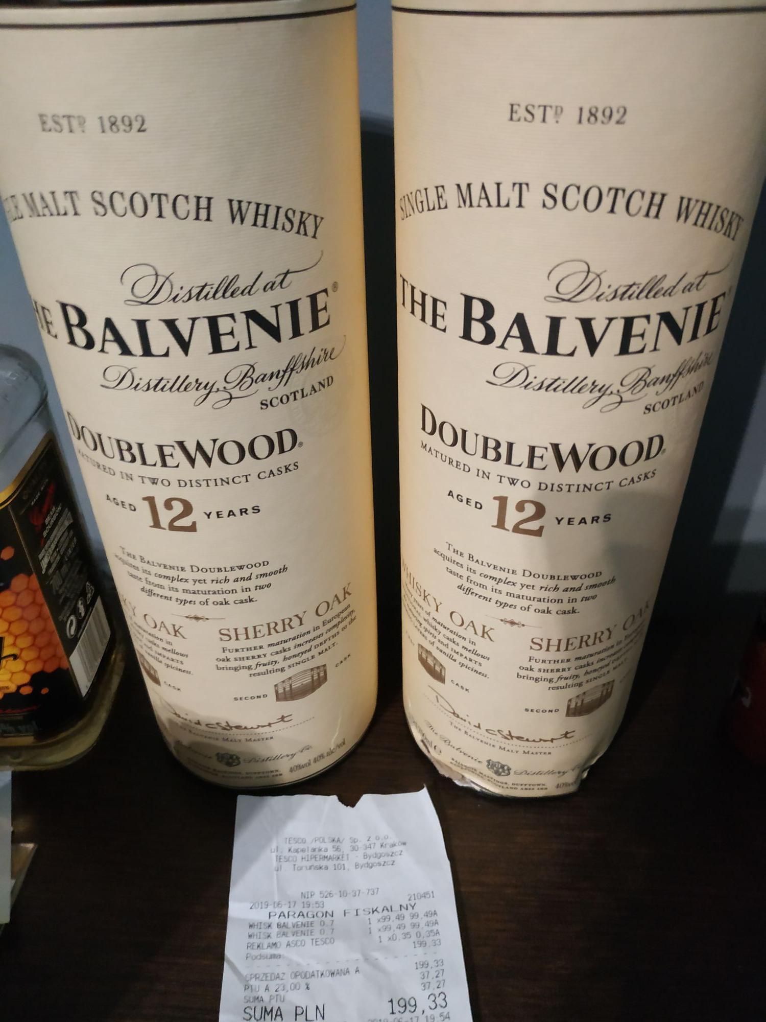 Whisky The Balvenie - Tesco extra Bydgoszcz