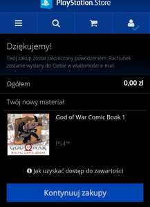 God of war comic book 1 ps4
