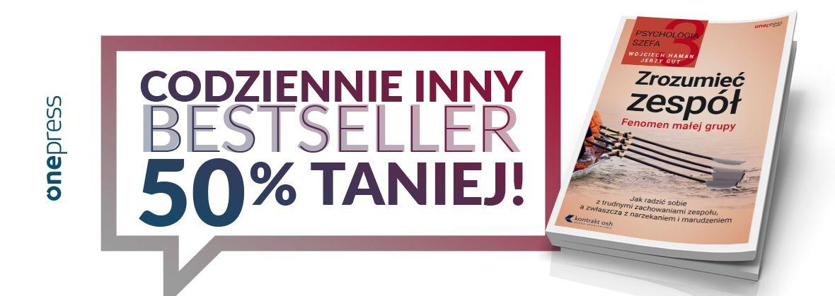 Codziennie inna książka za 50% ceny (harmonogram promocji) @ Onepress