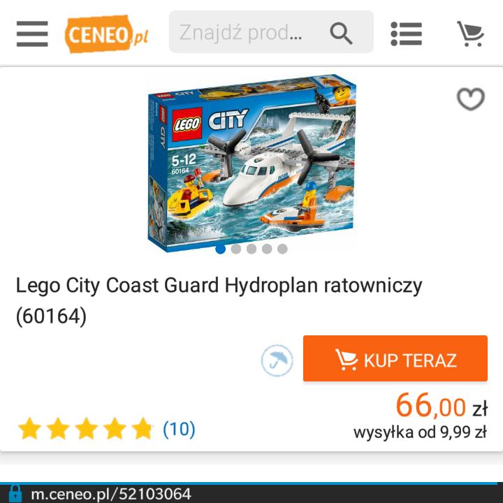 Lego City Coast Guard Hydroplan ratowniczy (60164)