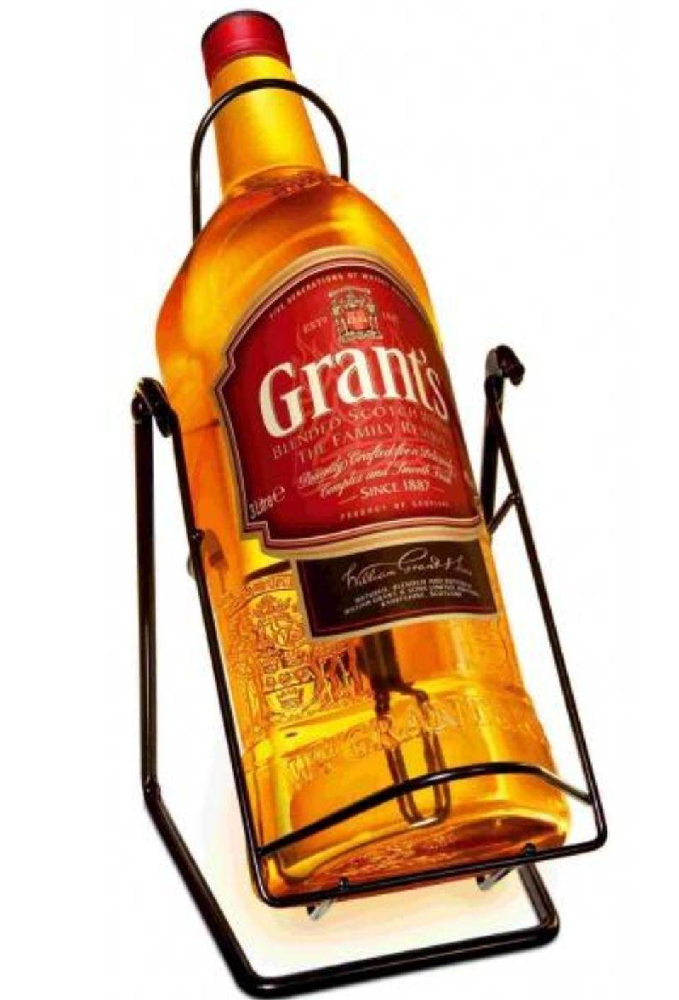 Grants 3 litry, butelka-kołyska, Tesco Kabaty Warszawa