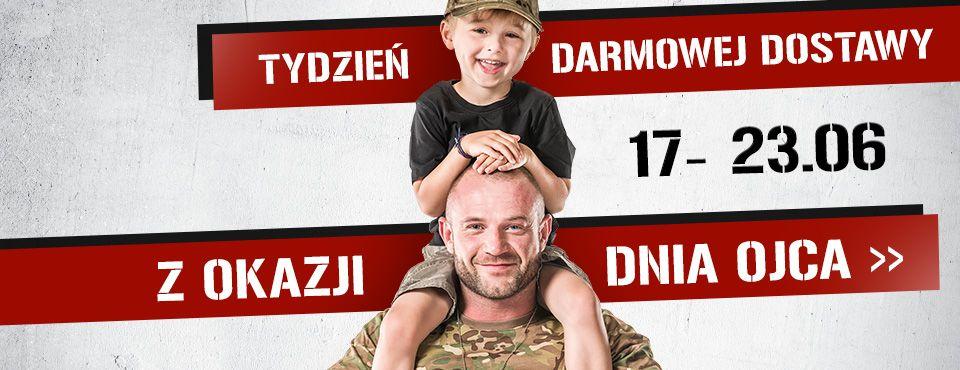 Militaria.pl darmowa dostawa dla zamówienia od 30 zł.