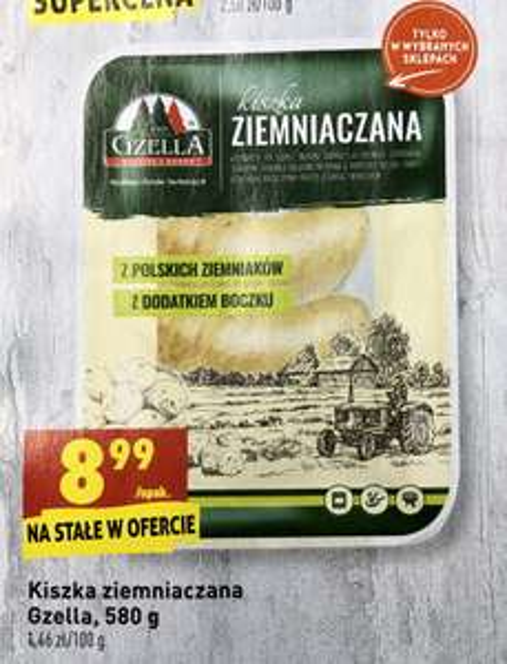 Kiszka ziemniaczana Gzella w Biedronce